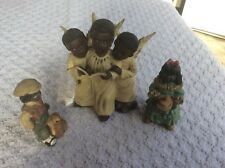 """Set of 5 figurines Made of risen,angles are 5"""",boy and girl are 3and the young"""