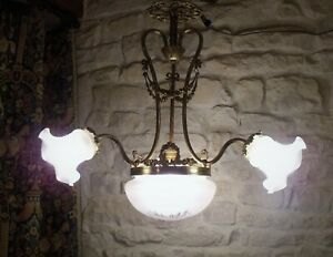 Vintage French Ceiling Light / Chandelier / Plafonnier