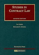 Studies in Contract Law (University Casebook) by Ayres, Ian, Speidel, Richard