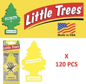 Vanillaroma Little Trees Freshener 10105 Vanilla  Aroma  MADE IN USA Pack  120