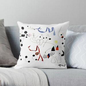 Joan Miro Woman Dreaming Of Escape Pillow Case, Joan Miro Pillow Cover