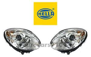 New! Mercedes-Benz Pair Set of Left and Right Halogen Headlights Hella