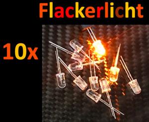 10x Flacker Licht mit Steuerung LED H0 Brennen Feuer Flackern Kerze Eisenbahn TT