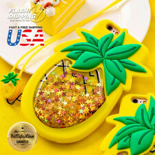 Pineapple Cute 3D Creative Soft Quicksand Silicone Case Cover Fits iPhone