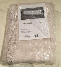 Homespun Crafts Britannia Ivory Afghan/Shawl 50 in x 60 in
