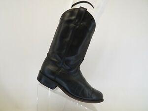 Laredo Black Leather Roper Cowboy Western Boots Womens Size 7.5 M