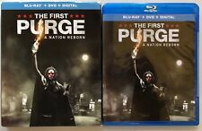 THE FIRST PURGE A NATION REBORN BLU RAY DVD 2 DISC SET + SLIPCOVER SLEEVE HORROR