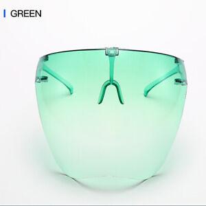 Adult Face Shield Protective Facial Cover Anti-fog Transparent Glasses Visor HOT