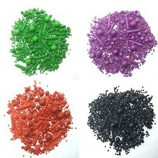 Black Red Green Purple Cupcake Sprinkles Mix Cake Toppers Decorations Birthday