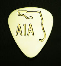 FLORIDA A1A - Solid Brass Guitar Pick, Acoustic, Electric, Bass