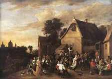 David Teniers the Younger fiammingo KERMESS, stampa in A4