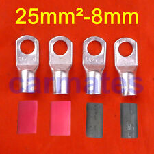 4 X Battery Cable Lead Lugs Terminals 25-8 for Truck 12V 24V Driving light Wire