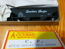 Accurail HO #7710 (Rd #354076) C.P. Offset Twin Hopper kit form