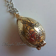 Golden hinged egg pendent necklace Harry Cedric Triwizard cup hogwarts port key