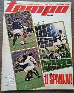 Magazin TEMPO 817 football Yugoslavia Italy report 1981 FIFA WC qualification 82