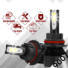 2x 488W 9007 LED Headlight Light HB5 6500K White High Low Beam 48800LM Bulb S2