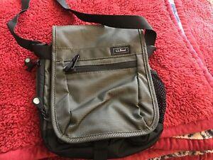 LL BEAN Gray Grey Crossbody Saddle Messenger Bag Men's/Women's Great Condition