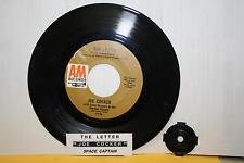 "JOE COCKER The Letter & Space Captain 7"" 45 rpm vinyl record & juke title strip"