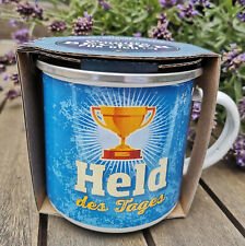 """Emaille-Becher Outdoorbecher /""""Held des Tages/"""""""