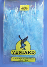 Truthahn Marabou 20 Federn Veniard Turkey Marabou large Light Blue