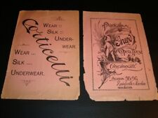 Circa 1893 Cincinnati Grand Opera Program, Wiedemann, Moerlein