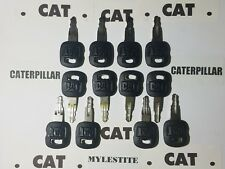 (12 ) Old Style Cat Keys Caterpillar Heavy Equipment Ignition Key FAST SHIPPING