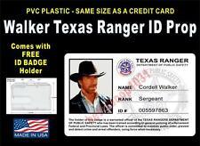 Walker Texas Ranger ID Badge / Card Prop - Comes w/ ID Badge Holder & Shirt Clip
