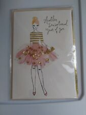 Hallmark Signature Model With Pink Lace Skirt Sensational Happy Birthday Card