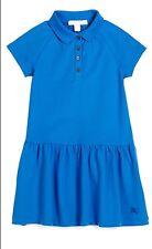 NWT $150 Burberry Girl's  Raglan Polo Blue Dress 6Y