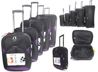 Lightweight Set Of 5 Single Suitcases Luggage Cabin Expandable Travel Trolley