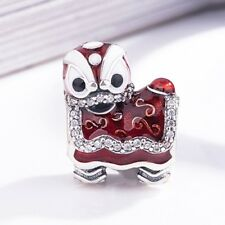 925 Mythical Animals Lion silver charm pendant Bead For European bracelet bangle