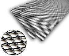 2x Universel Grille Réseau En Aluminium Noir 16x10mm 100x25cm