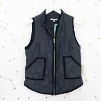 NWT Stitch Fix Vest Size Small Gray Herringbone Quilted Full Zip Shara Outerwear