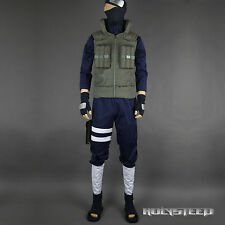 NARUTO Kakashi Hatake Cosplay Costume+shoes Full Set