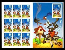 1¢ Wonder'S ~ Mnh Looney Tunes Souvenir Sheet W/ 33¢ Road Runner & Coyote ~ S908