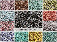 CHOOSE COLOR! 10g (140pcs) 6/0 MATUBO 3CUT Seed Beads Czech Glass