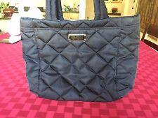 Marc Jacobs Black Logo Quilted Cloth Workwear Large Shoulder Handbag Tote