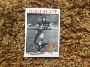 Ohio State University Football Card Hopalong Cassidy Mint   OSU Go Bucks