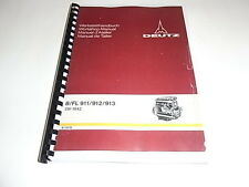 Deutz B/FL 911/912/913 Workshop Manual 1978 photocopy
