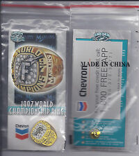 1997 WORLD CHAMPIONSHIP RING PIN  CHEVRON   Promo- NEW