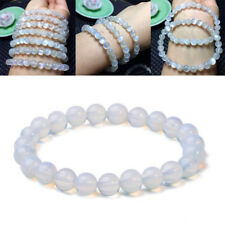 8mm Round Crystal Moonstone Natural Stone Stretched Beaded Bracelet for Women