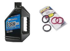 All Balls Fork & Dust Seal Kit With Maxima 10W Fork Fluid 1 Liter 56-132