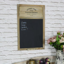 Brown wood chalk board blackboard notice shabby vintage chic kitchen cafe bistro
