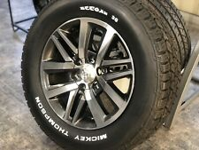 "4x GENUINE TOYOTA HILUX SR5 2017 18"" Wheels & AT MICKEY THOMPSON Tyres 4WD PRADO"