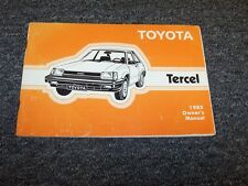 1985 Toyota Tercel Sedan Owner Owner's Operator User Guide Manual DX 1.5L