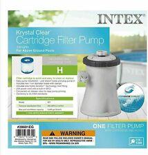 Intex Krystal Clear Cartridge Filter Pump 330 GPH