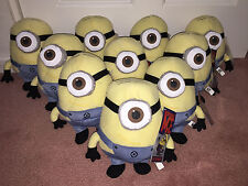 Lot of 10: Despicable Me movie 9 inch STUART Minion plush doll toy NEW w/ tags!