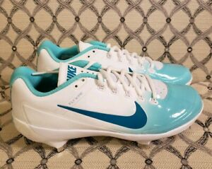 Nike Air Max Flywire Mens METAL Baseball Cleats Size 7.5 Blue White 880261-133