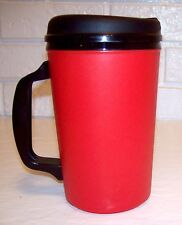 34 oz RED THERMO SERV INSULATED TRAVEL MUG CUP