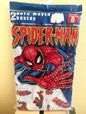 Boys Woven Boxers Pack of 2 Marvel Spiderman Size 8